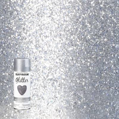 10.25 oz. Silver Glitter Spray Paint (6-Pack)