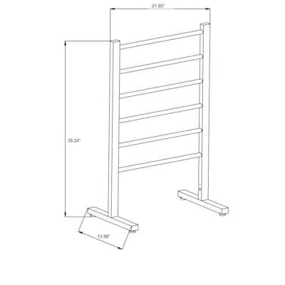 Riposte Series 6-Bar Stainless Steel Floor Mounted Electric Towel Warmer Rack in Brushed Nickel