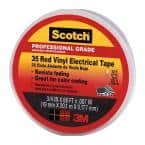Scotch 3/4 in. x 66 ft. x 0.007 in. #35 Vinyl Electrical Tape, Red