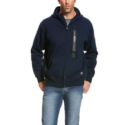 Rebar Workman Men's X-Large Navy Full Zip Hoodie Jacket
