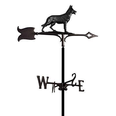Black German Shepherd Weathervane