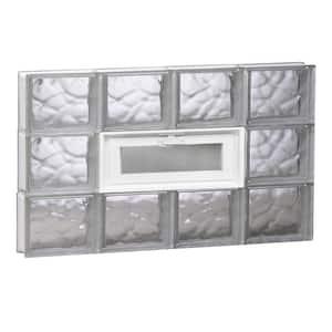 31 in. x 17.25 in. x 3.125 in. Frameless Wave Pattern Vented Glass Block Window