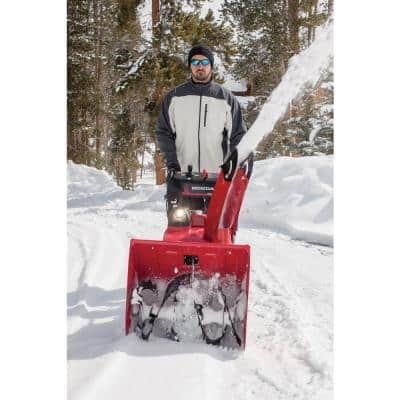 24 in. Two-Stage Hydrostatic Track Drive Electric Start Gas Powered Snow Blower with Electric Joystick Chute Control