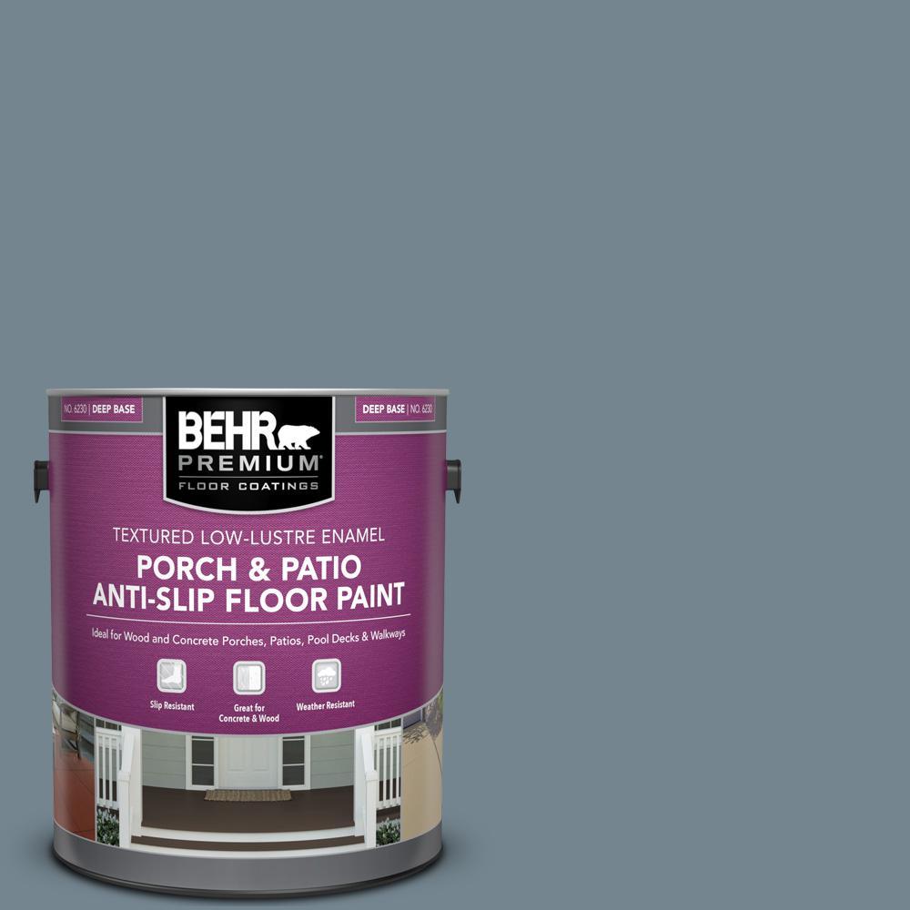 1 gal. #N480-5 Adirondack Blue Textured Low-Lustre Enamel Interior/Exterior Porch and Patio Anti-Slip Floor Paint