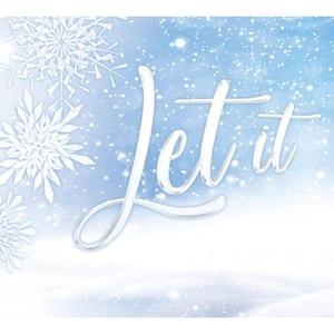 7 ft. x 8 ft. Let It Snow-Christmas Garage Door Decor Mural for Split Car Garage