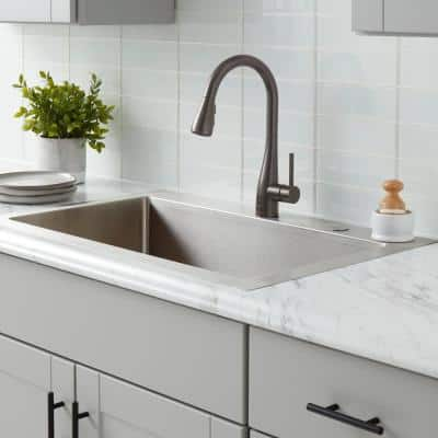Nottely Touchless Single-Handle Pull-Down Kitchen Faucet with TurboSpray and FastMount in Bronze