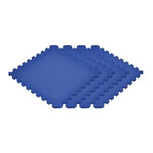 Solid Blue 24 in. x 24 in. EVA Foam Sport Interlocking Tiles