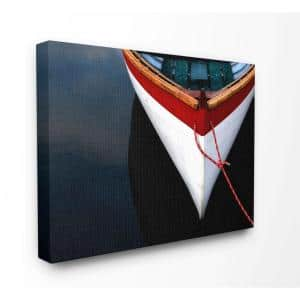24 in. x 30 in. ''Bow of a White Wooden Docked Boat'' by Anita Nowacka / DanitaDelimont.com Canvas Wall Art