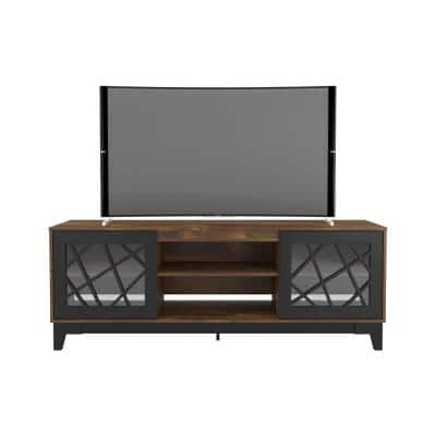 Graphik 72 in. Black and Truffle Fits TV's up to 80 in. with Cable Management
