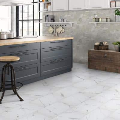Carrara Matte Rectified 12 in. x 24 in. Porcelain Floor and Wall Tile (13.3 sq. ft. /case)