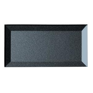 Forever Royal Gray Inner Beveled Subway 3 in. x 6 in. Beveled Glass Wall Tile (1 sq. ft.)