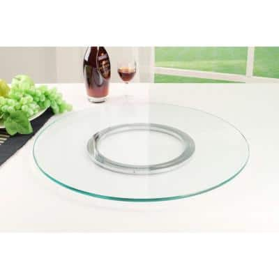 24 in. Round Clear Glass - 3/8 in. Thick - Lazy Susan