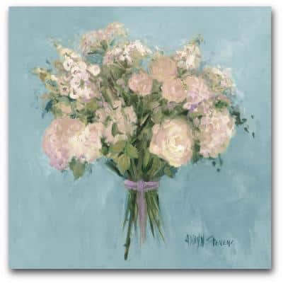 Blue Rose Bouquet I 30 in. x 30 in. Gallery-Wrapped Canvas Wall Art