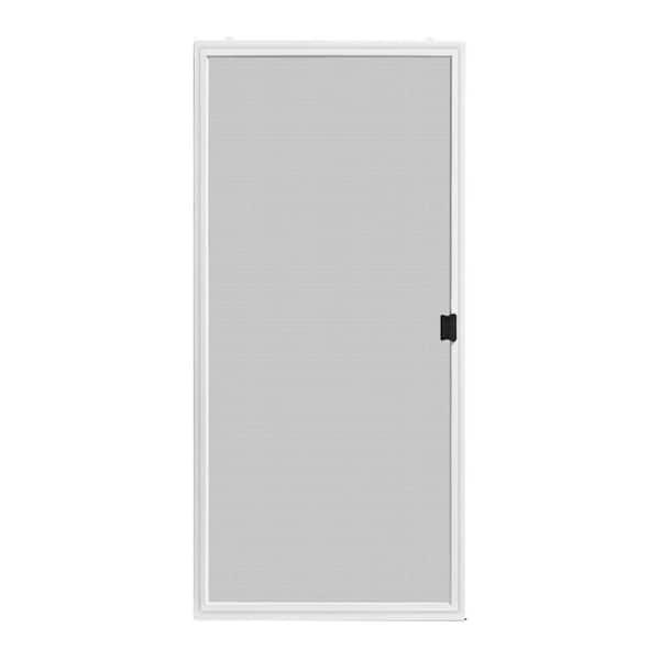 36 in x 80 in adjustable fit white premium patio sliding screen door
