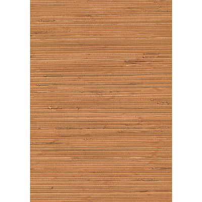 Honoka Peach Grasscloth Peach Wallpaper Sample