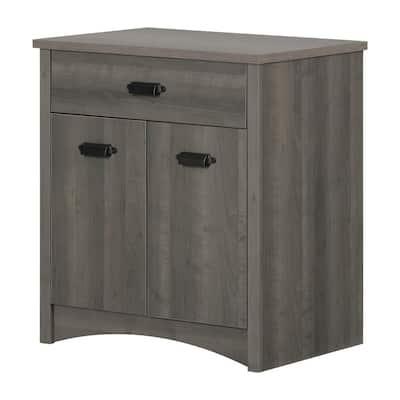 Gascony Gray Maple Storage Cabinet