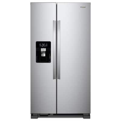 21 cu. ft. Side by Side Refrigerator in Fingerprint Resistant Stainless Steel