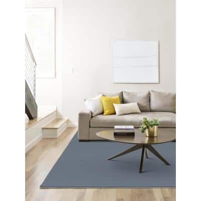 Etched - Color Denim Blue Residential 9 in. x 36 in. Peel and Stick Carpet Tile (10-Tile / Case)