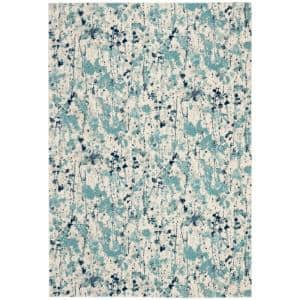 Evoke Ivory/Blue 8 ft. x 10 ft. Area Rug