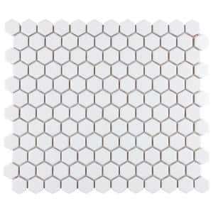 Merola Tile Metro Hex Matte White 10 1 4 In X 11 7 8 In X 5 Mm Porcelain Mosaic Tile 8 65 Sq Ft Case Fdxmhmw The Home Depot