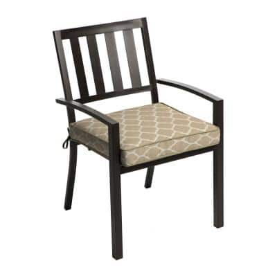 Toffee Trellis Square Outdoor Seat Cushion (2-Pack)