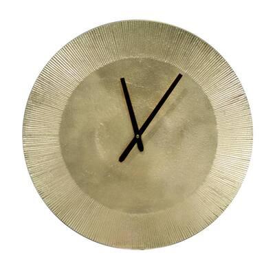Shanah Antique Brass Accent Wall Clock