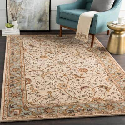 Elam Olive 2 ft. x 4 ft. Hearth Indoor Area Rug