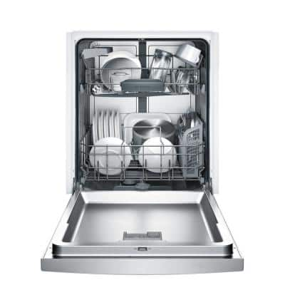 100 Series 24 in. Anti-Fingerprint Stainless Steel Front Control Tall Tub Dishwasher with Hybrid Stainless Steel Tub