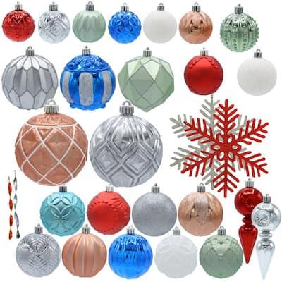 Snowtop Dazzle Assorted Ornament Set