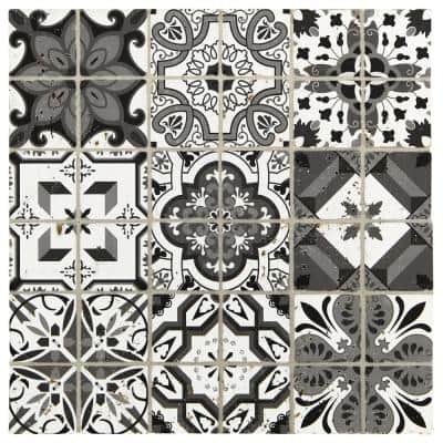 Premier Accents Night Fall Brick Joint 11 in. x 11 in. x 8 mm Stone Mosaic Wall Tile (0.97 sq. ft./Each)