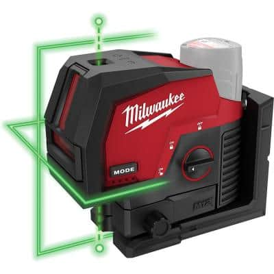 M12 12-Volt Lithium-Ion Cordless Green 125 ft. Cross Line and Plumb Points Laser Level (Tool-Only)