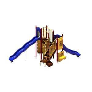 UPlay Today Timber Glen (Playful) Commercial Playset with Ground Spike