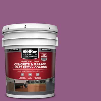 5 gal. #OSHA-4 OSHA SAFETY PURPLE Self-Priming 1-Part Epoxy Satin Interior/Exterior Concrete and Garage Floor Paint