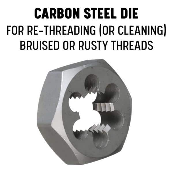 Drill America M10 X 1 Carbon Steel Hex Re Threading Die Dwtsmh10x1 The Home Depot