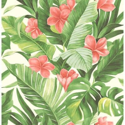 Tropical Paradise Vinyl Peel & Stick Wallpaper Roll (Covers 30.75 Sq. Ft.)