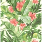 Tropical Paradise Multi-Colored Wallpaper Sample
