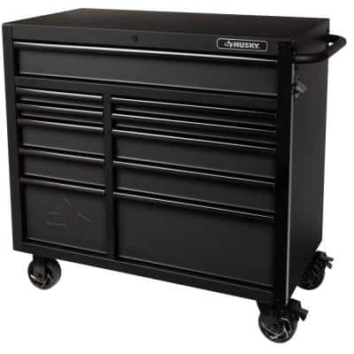 Industrial 41 in. W x 21.5 in. D 11-Drawer Rolling Cabinet Tool Chest in Matte Black