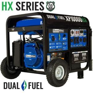 10000/8000-Watt Dual Fuel Electric Push Start Gasoline/Propane Portable Generator with CO Alert Shutdown Sensor