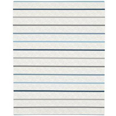 Multicolored Heather Stripe Mini Crib Super Soft Fitted Polyester Crib Sheet