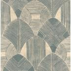 Westport Teal Geometric Teal Paper Strippable Roll (Covers 56.4 sq. ft.)