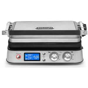 Livenza All-Day 130 sq. in. Stainless Steel Non-Stick Indoor Grill