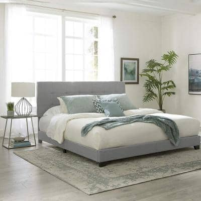 Glacier King Upholstered Bed
