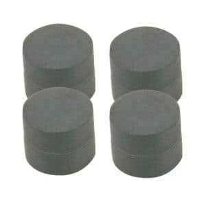 3/4 in. Dia Black Disc Magnet (8 per Pack)