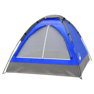 2-Person Blue Dome Tent with Carry Bag