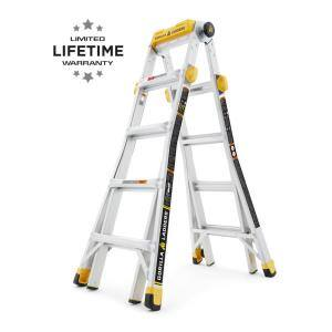 19 ft. Reach MPXT Aluminum Multi-Position Ladder with Project Top, 375 lbs. Load Capacity Type IAA Duty Rating