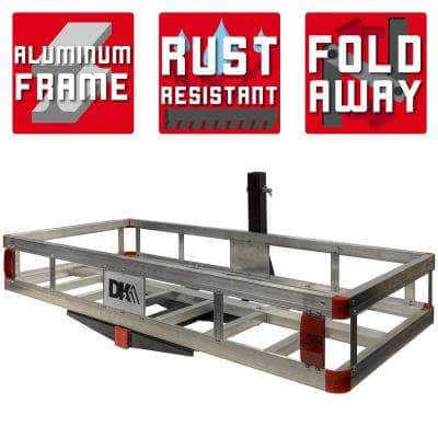 500 lb. Capacity 50 in. x 24 in. Aluminum Hitch Cargo Carrier for 2 in. Receiver