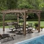 Silverton 14 ft. x 10 ft. All Cedar Pergola with Electric
