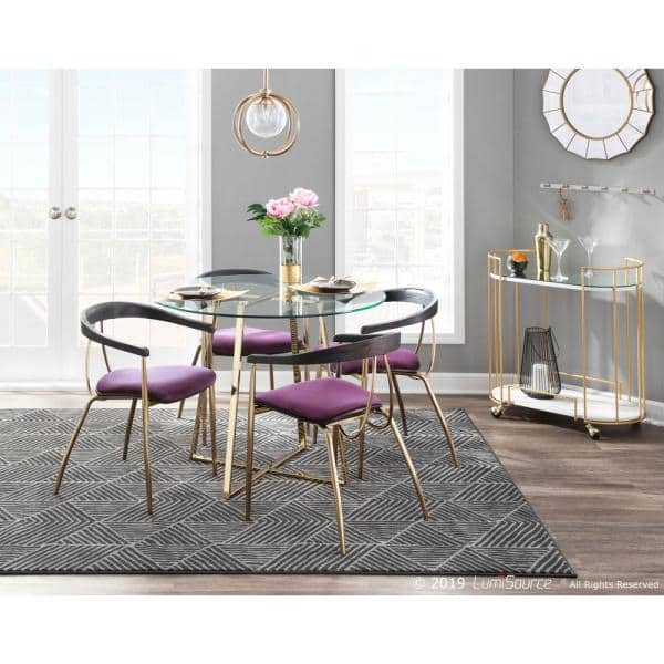 Purple Velvet Dining Chair, Purple Dining Room Chairs