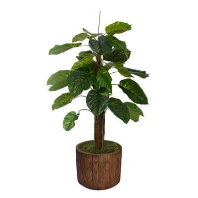 53 in. Real Touch Greenery in Fiberstone Planter