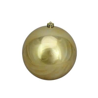 8 in. (200 mm) Gold Shatterproof Shiny UV-Resistant Christmas Ball Ornaments